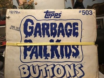 SEALED Factory Case Of 864(12 Boxes Of 72)Mint Unused Garbage Pail Kids Buttons!