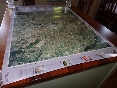 Large( 96 x 70 cms ) Weekly Times Great Cities of Victoria Map. BENDIGO. 2001