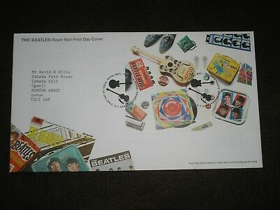 2007 GB Stamps THE BEATLES MINI SHEET First Day Cover TALLENTS HOUSE Cancel FDC