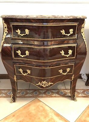 Beautiful French style COMMODE/BOMBE /CONSOLE with MARBLE TOP