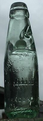 Old small codd / marble bottle...pictorial trademark row boat and oarsmen