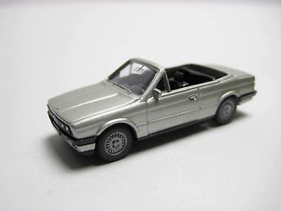 Wiking 191-2 BMW 325i (E30) Cabriolet - silbern m'ic lack. - 'Fehlproduktion'