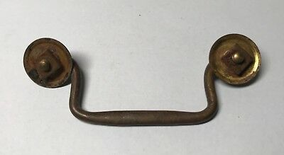 Antique Solid brass Victorian Edwardian Drawer or Strongbox Handle. 18th 19th