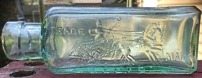 Old Metal polish bottle... chariot and horse pictorial