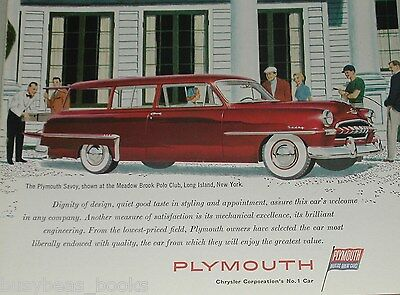 1953 Plymouth ad, Plymouth Savoy Station Wagon