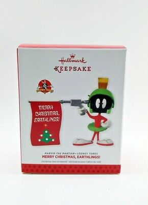 Hallmark Marvin the Martian Ornament Merry Christmas Earthlings 2013
