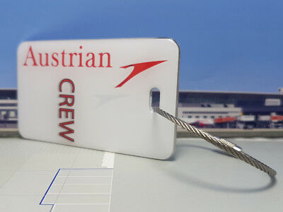 Austrian Airlines Crew Tag / Anhänger weiss - sehr edel