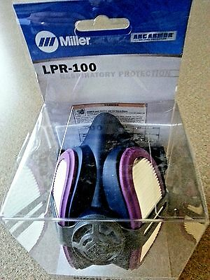 miller electric lpr-100 ml00895 half mask welding respirator