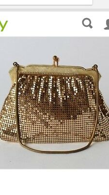 Vintage OROTON Gold Mesh PURSE/HANDBAG