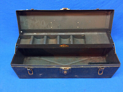 VINTAGE SK 19 inch Tool Box Hand Carry Box Empty with Tray