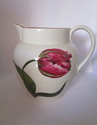 """Laura Ashley Large """"Botanical"""" Print Jug.Floral/Bee Design. Late 1980's. Perfect"""