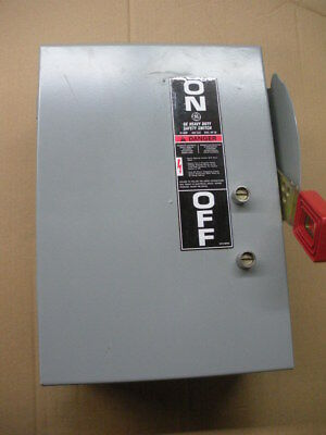GE THN3361J 30A 600v 3p disconnect safety switch model 11 NNB