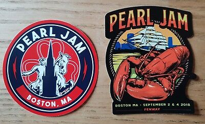Pearl Jam Stickers Boston/Fenway 2018. The Away Shows.