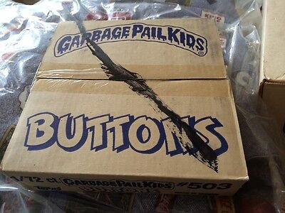 2 Boxes Of 72 Mint Unused Garbage Pail Kids Buttons Pins From 1986