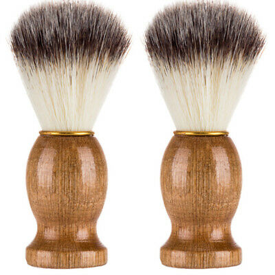 Men Shaving Bear Brush Best Badger Hair Shave Wood Handle Razor Barber Tool N9