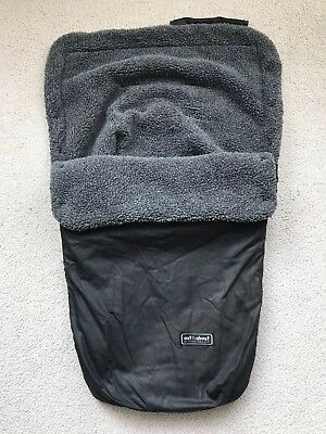 Out N About Nipper Single Waterproof Fleece Lined Buggy Footmuff Good Condition