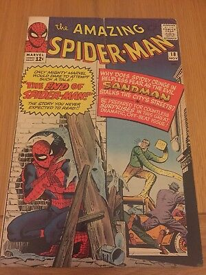 Amazing Spiderman # 18 (Silver Age) Cents Copy 1st Ned Leeds 3rd Sandman