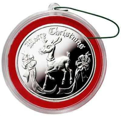 2018 RUDOLPH 1 oz Fine Silver Christmas Round with box