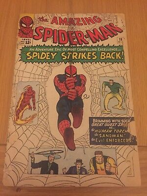 Amazing Spiderman # 19 Silver Age Cents Copy. 4th Sandman, 2nd Evil Enforcers