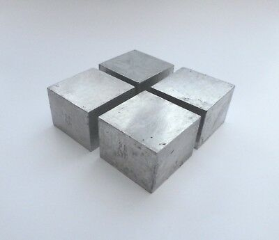 4 HOTFOIL DIE MOUNTING BLOCKS ALUMINIUM 25mm x 25mm SPACES LETTERPRESS #308