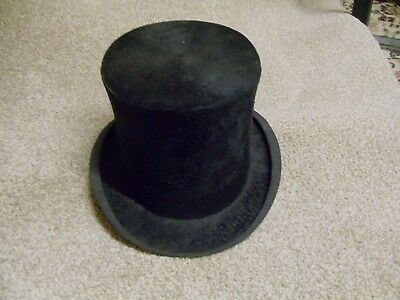 Vintage Gentleman's Black Top Hat, John Hutton and Sons Ltd Newcastle
