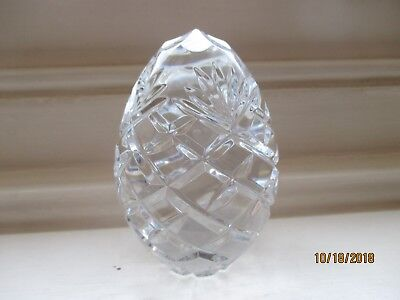 very heavy cut glass crystal paperweight height 12cm diamter 7cm