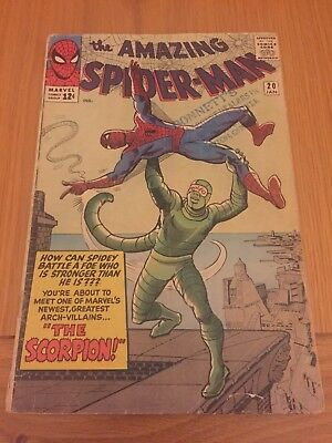Amazing Spiderman # 20 Silver Age Cents Issue. 1st Scorpion Appearance