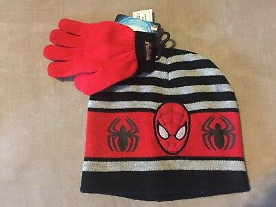Marvel Ultimate Spiderman Child Winter Hat And Gloves
