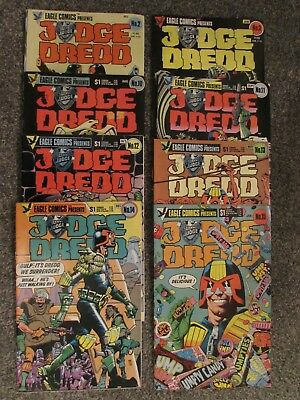 Judge Dredd, Eagle Comics UK/US monthly, 1983 to 1985, 8 issues (2-3,10-15)