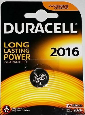 2 x Duracell CR2016 3V Lithium Coin Cell Batteries Expiry 2024