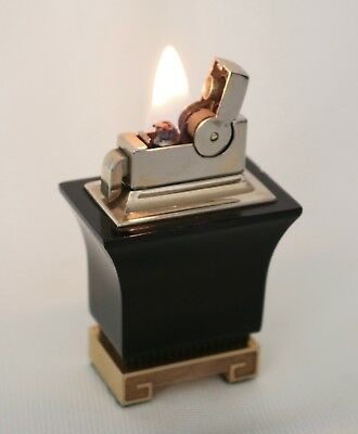 """Vintage ASR Ascot  """"Pagoda Style""""Table Lighter In Working Condition"""