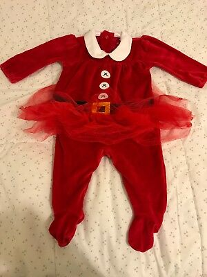 Next 3-6 Months Mrs Claus Tutu Baby Grow All In One