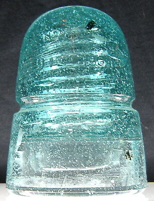 W. Brookfield Crown Embossed  2 Patent Date Insulator CD 145 Snow & Bubbles