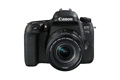 NEW Canon EOS 77D 24.2MP Digital SLR Camera Black (Body Only) UK DISPATCH