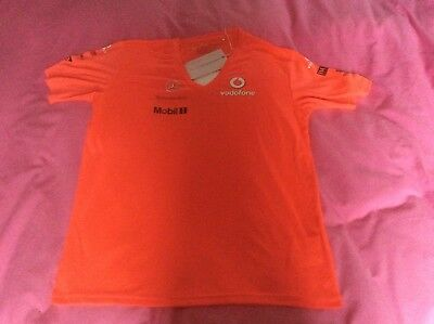 Ladies BNWT McLaren Mercedes  Vodafone F1 Formula One T Shirt  (14) Large