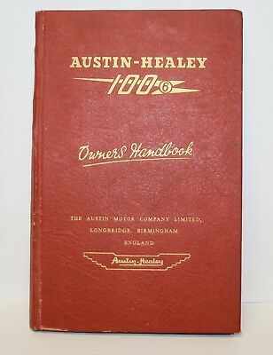 Original~Austin Healey~100-6~Owners Handbook~1957~Good Condition~Car Manual
