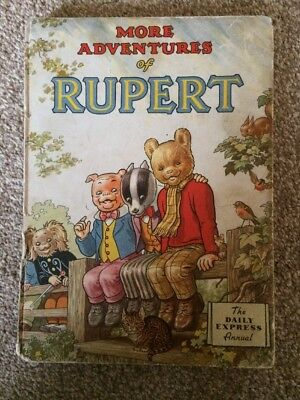 RUPERT ANNUAL 1953 original book - Tatty Condition Outside, Nice In !!