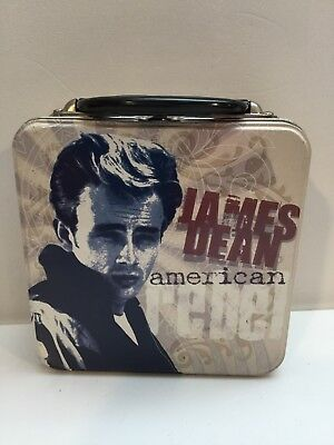 James Dean Tin Metal Square Lunch Box.  New.