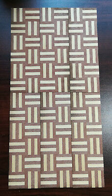 "Dollhouse Miniature Parquet Real Wood Flooring by Houseworks 1:12 Scale 12"" x 6"""