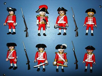 8 English Marineinfanterie Soldaten Husaren Matrosen Piraten Top Playmobil 2
