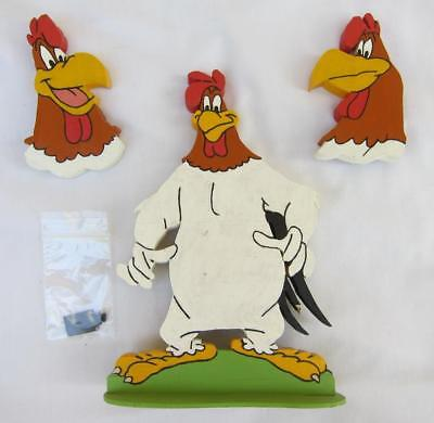 3 Pro Hand Painted Wood Warner Brothers Bros Foghorn Leghorn Cartoon Flat Figure