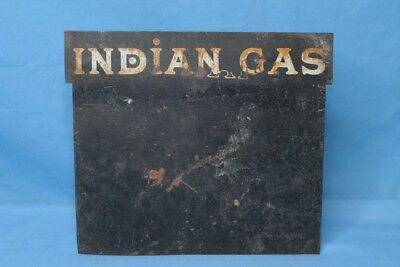 Very Rare! 1920s Indian Gas Metal Service Station Sign