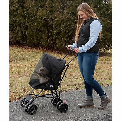 Pet Gear Dog Cat Travel Lite Pet Stroller Ready to Use No Assembly Black