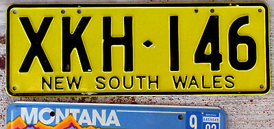 1989 Black on Yellow New South Wales Australia License Plate