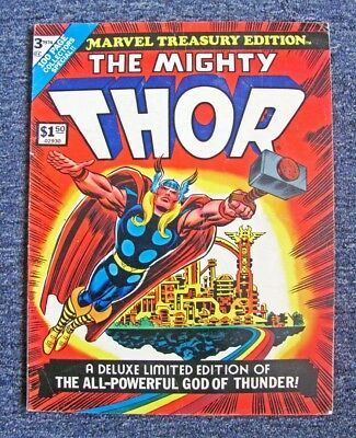 """1974 """"mighty Thor"""" Limited Collector's Ed. Marvel Large Format Comic #3 / 98 Pgs"""