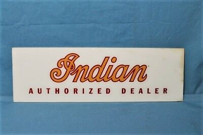 Very Rare! 1940s Indian Motorcycle Authorized Dealer Advertising Sign