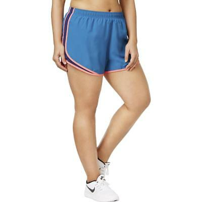 Nike Womens Tempo Blue Running Fitness Workout Shorts Athletic Plus 1X BHFO 2915