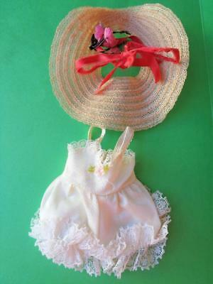 """Madame Alexander Lissy Doll Straw Hat & Lace Chemise TAGGED 12"""" Vintage 1950s"""