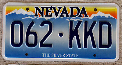 Nevada Blue Mountains License Plate Embossed Version