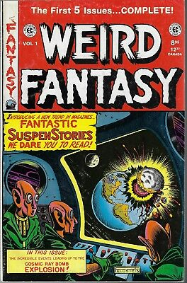 The Weird Fantasy Comics Reprint Books Issues First 5 Issues 1 - 5 Russ Cockrum